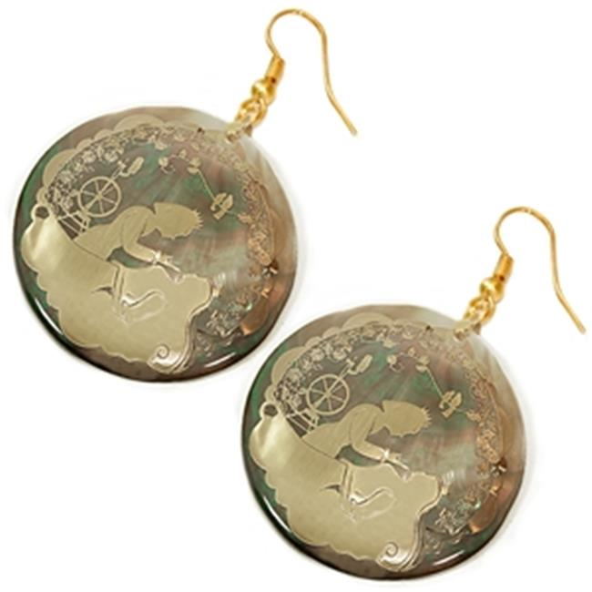 88 Imports AE0131 Shell Earrings - Sleeping Beauty