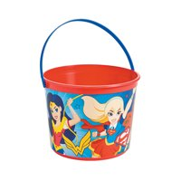 Dc Superhero Girls Favor Container for Birthday - Party Supplies - Licensed Tableware - Misc Licensed Tableware - Birthday - 1 Piece