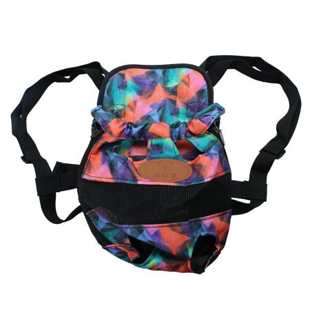 Pet Dog Carrier Front Chest Backpack Puppy Bag Outdoor L Size Colorful Pattern - image 7 of 7