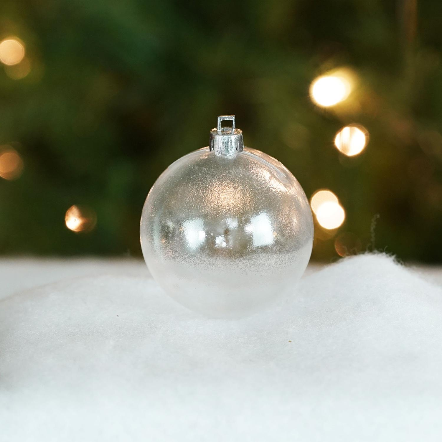 "Shatterproof Clear Transparent Christmas Ball Ornament 2.75"" (70mm)"
