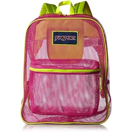 ba79697354c JanSport Mesh Pack School Backpack - Cyber - Pink