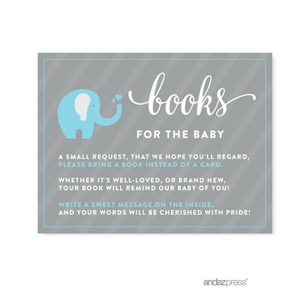 Books For Baby Gray Boy Elephant Baby Shower Games , 20-Pack](Baby Showers For Boys)