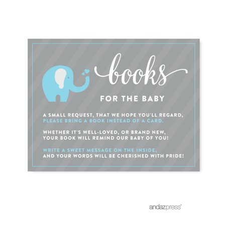 Books For Baby Gray Boy Elephant Baby Shower Games , 20-Pack](Baby Boy Elephant Themed Baby Shower)