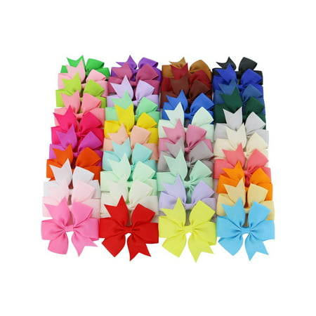 Coxeer 40Pcs Ribbon Hair Bows Clips Hairpin Hair Accessories for Baby Girls Kids Teens Toddlers Children