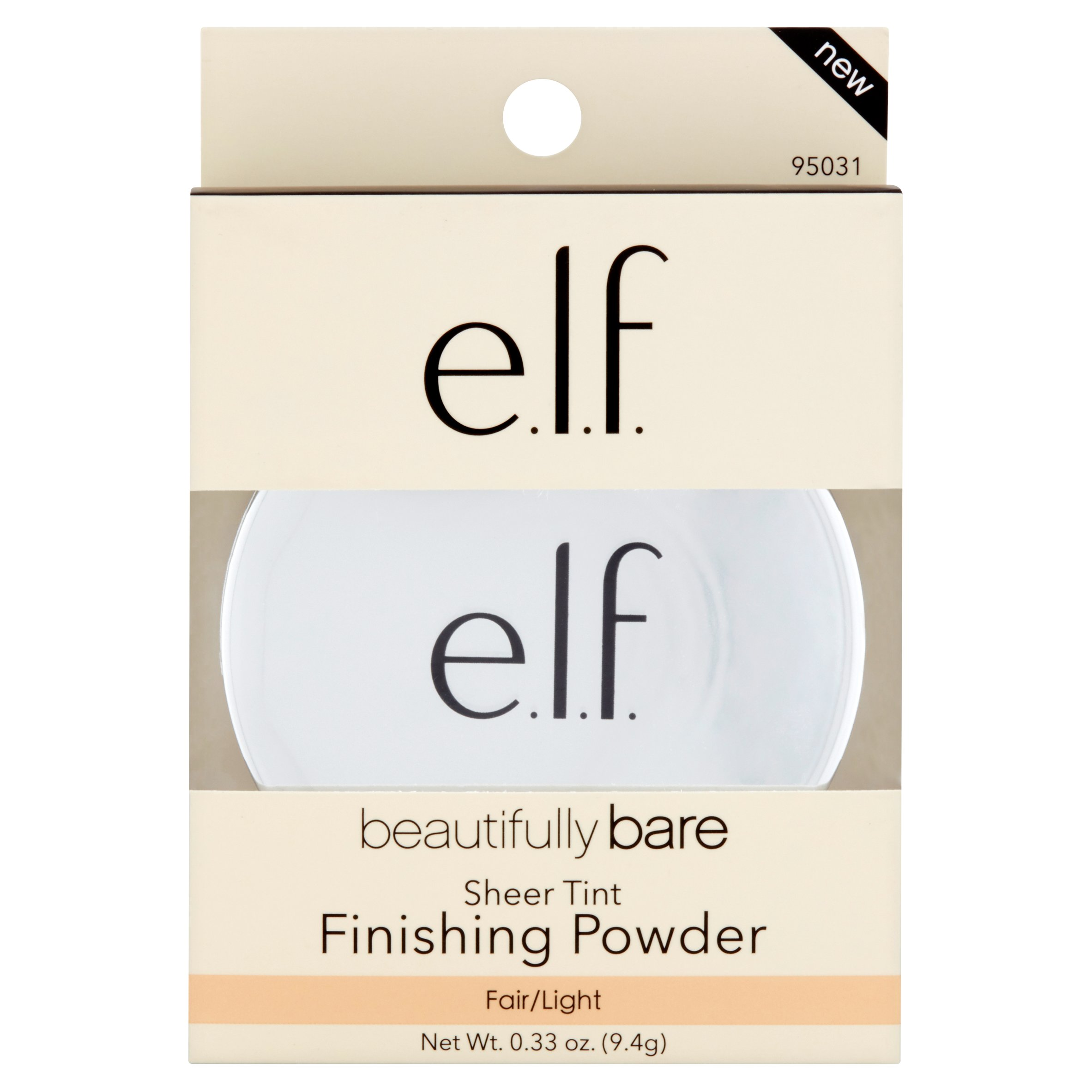 e.l.f. Cosmetics Beautifully Bare Sheer Tint Finishing Powder, Fair/Light