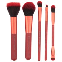 MŌDA Perfect Mineral Professional Makeup Brush Set, 6 Pcs