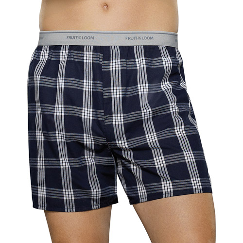 Fruit of the Loom Big Men's Fashion Plaid Boxers, 5 - Pack