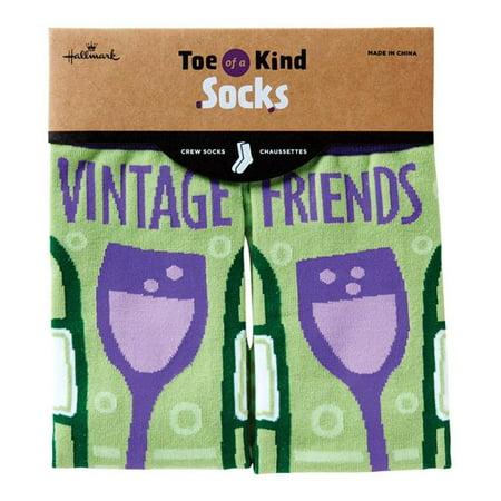 Hallmark 6520696 Chaussettes mi-mollet Vintage Friends, coton - image 1 de 1