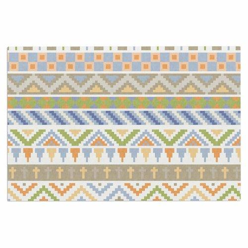 East Urban Home 'Happy Tribal Pattern' Doormat