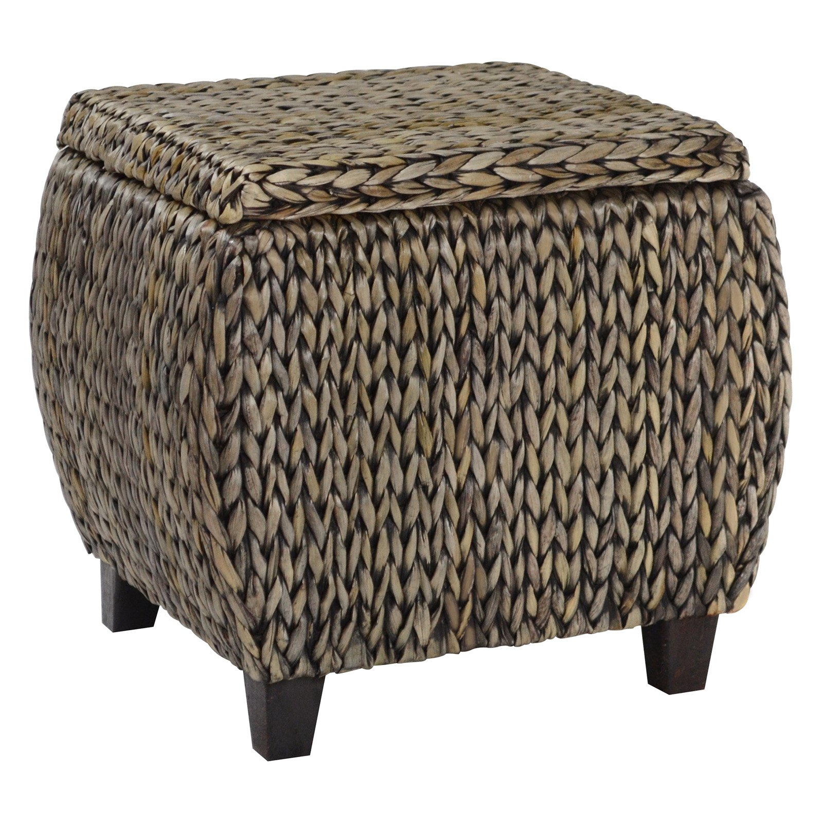 Gallerie Dcor Gallerie Decor Bali Breeze Round Storage Ottoman