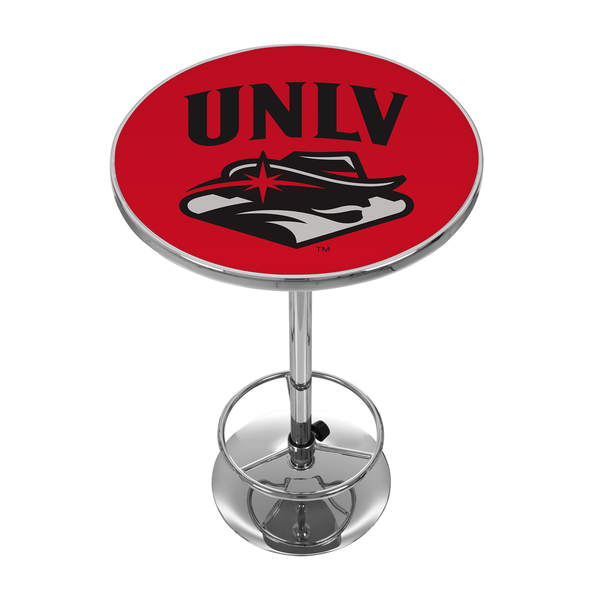 "Trademark NCAA UNLV 42"" Pub Table, Chrome"