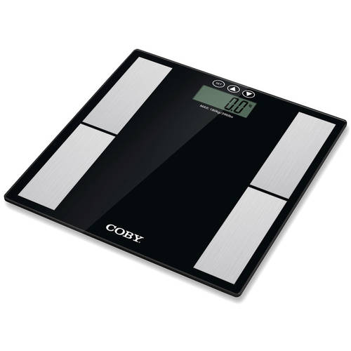 Glass Digital Body Fat Scale with LCD Display​ Measures Fat/Body Weight/Water/Muscle/Bone/BMR/BMI