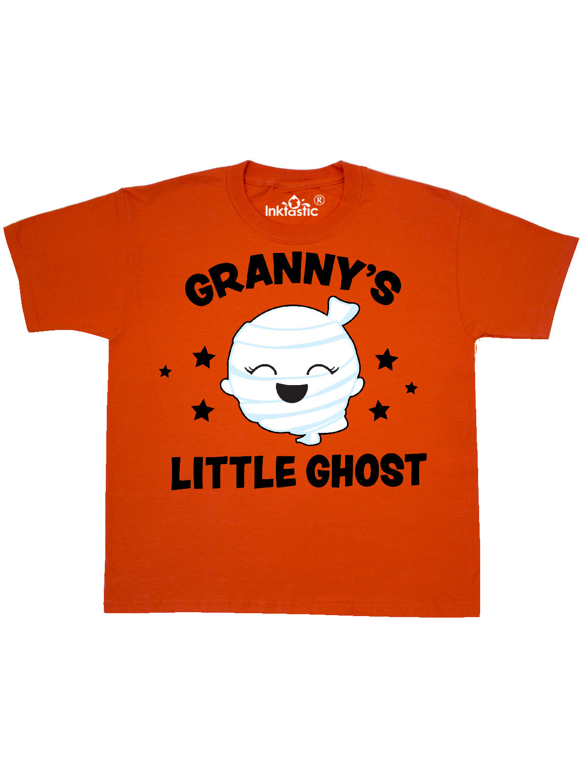 inktastic Cute Grannies Little Ghost with Stars Baby T-Shirt
