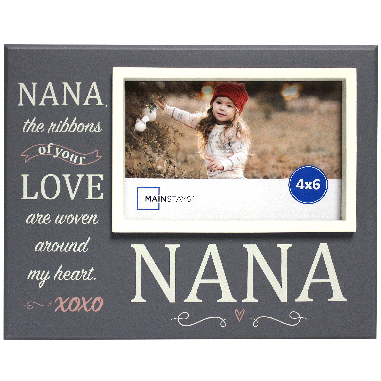 Mainstays 4x6 Offset Grey Sentiment Frame Nana Walmartcom