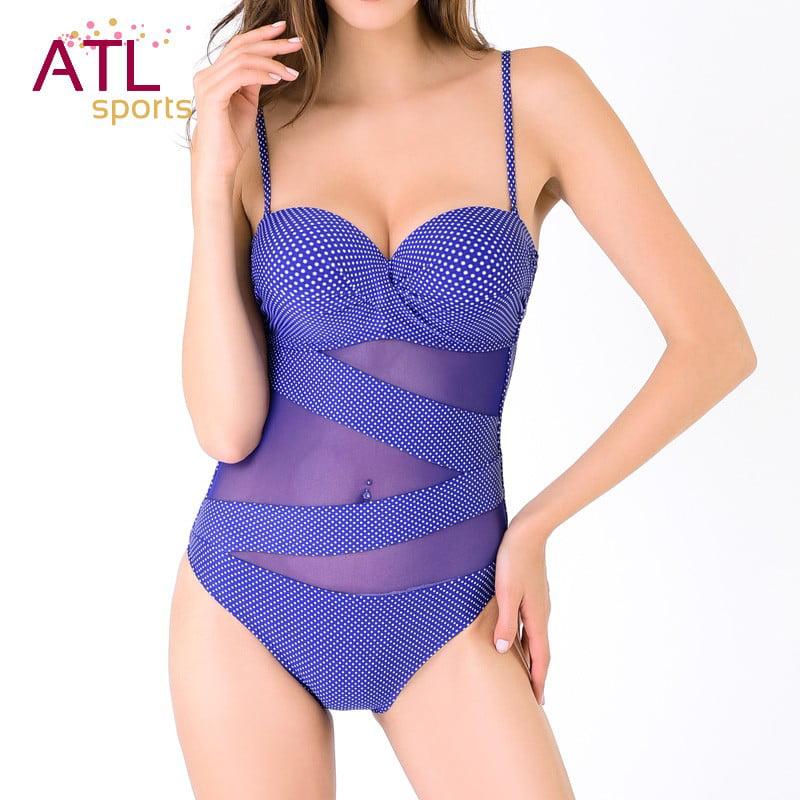 Mesh One-Piece Swimsuit Plus Size Sexy Monokini Swimming ...