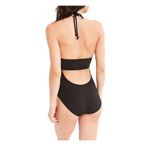 0d3297490d8b2 Women One-piece Swimsuit Wireless Hanging Neck-type Swimsuit Embroidery  Floral Swimwear