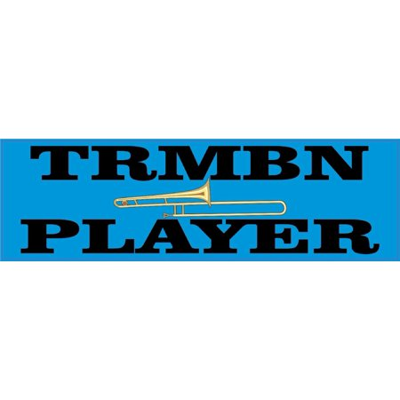 10 x 3 trmbn player trombone bumper sticker car decal window stickers decals