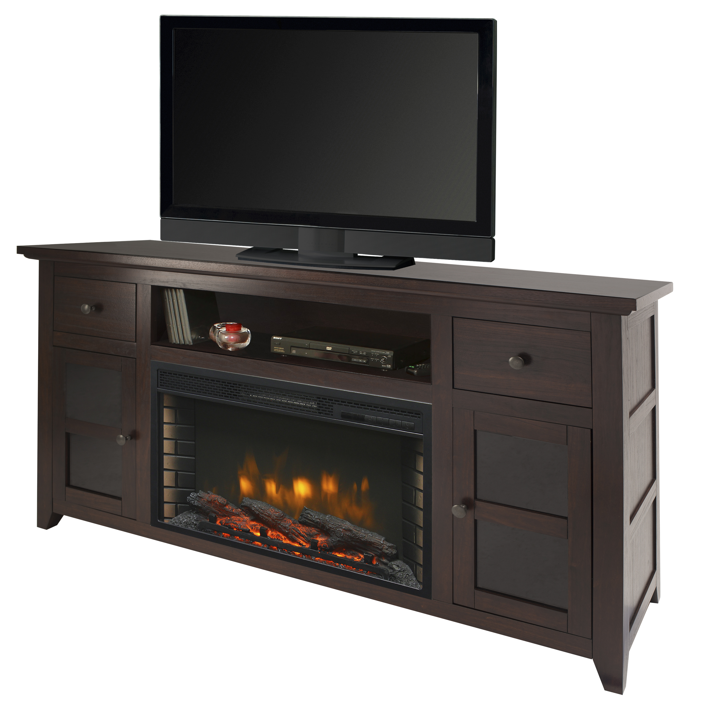 "Muskoka 370-120-13-KIT Winchester 56"" Media Electric Fireplace - Dark Walnut"
