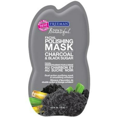 Freeman Polishing Gel Face Mask+ Scrub Charcoal + Black Sugar, 0.05 FL OZ