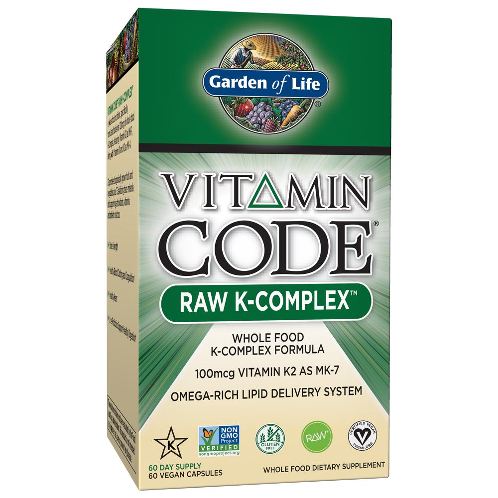 Garden of Life Vitamin Code K Complex 60 Capsules