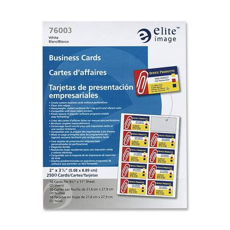 Elite Image, ELI76003, Laser Printer Business Cards, 2500 / Box, White