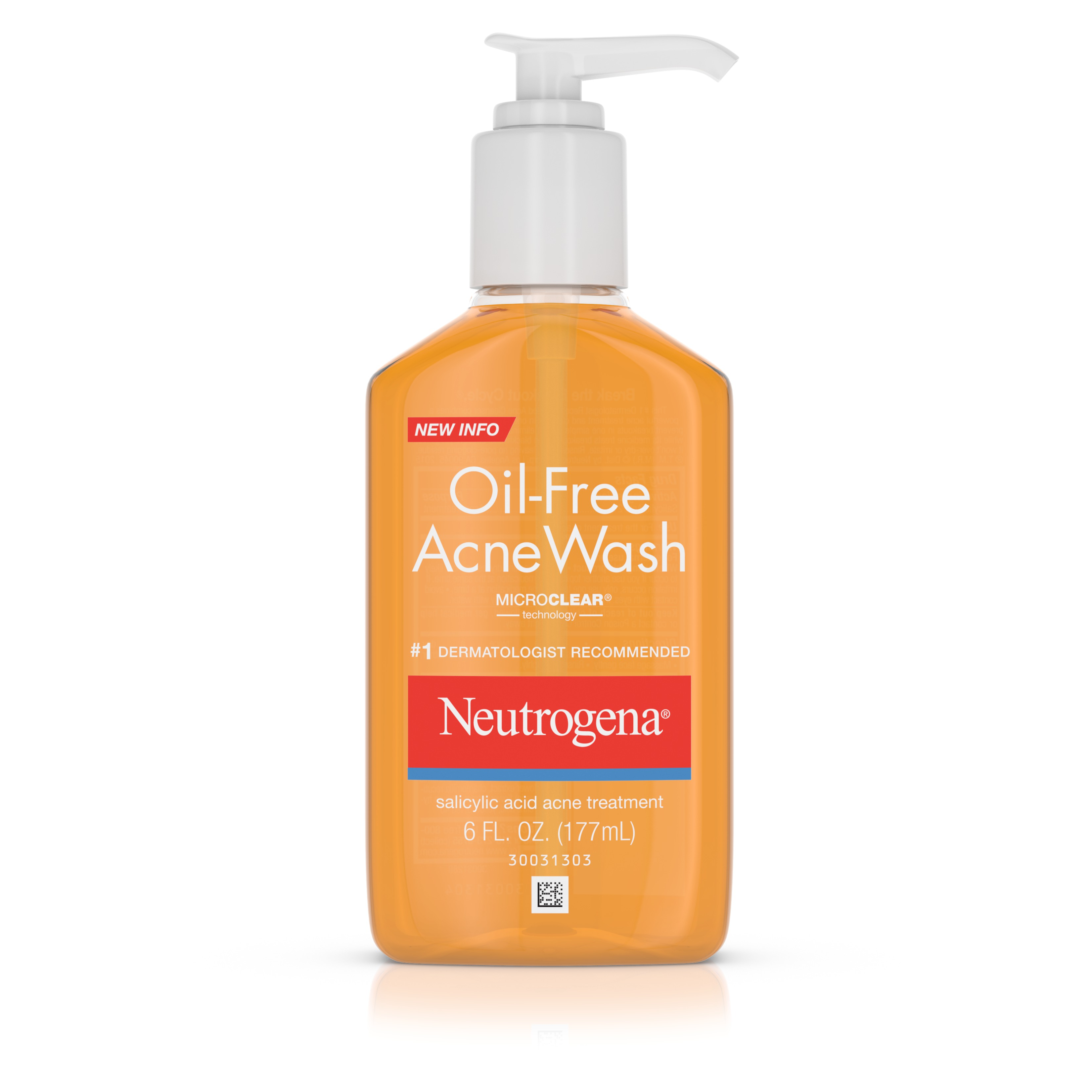 Neutrogena Oil-Free Acne Face Wash With Salicylic Acid, 6 Oz.