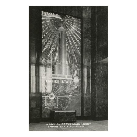 Lobby, Empire State Building, Art Deco, New York City Print Wall Art