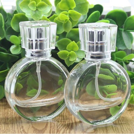 Meigar 20ml Empty Glass Perfume Spray Bottle Round Atomizer Refillable Travel Container Special Offer - Empty Perfume Bottle
