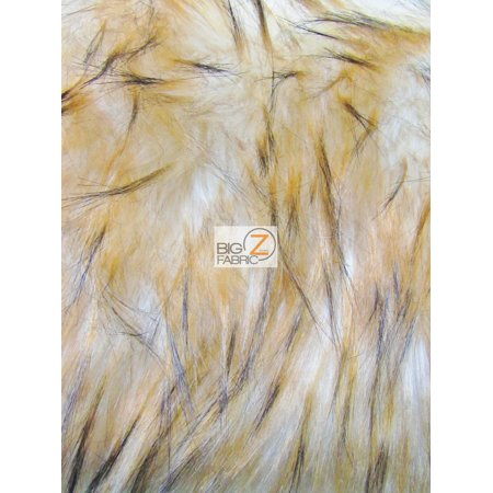 Faux Fake Fur Animal Short Pile Coat Costume Fabric / Lynx Cat / Sold By The Yard ()