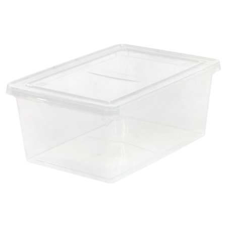IRIS 17 Qt. Plastic Storage Box, Clear Set of 12