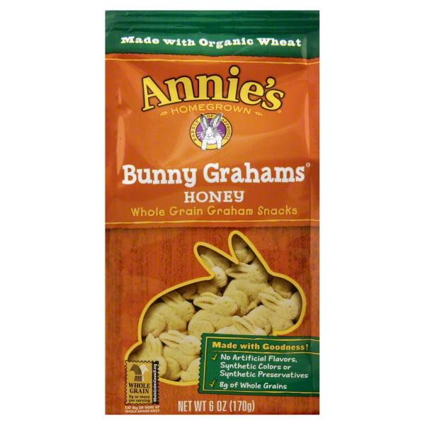 Annie's Bunny Grahams Honey 6oz Bag