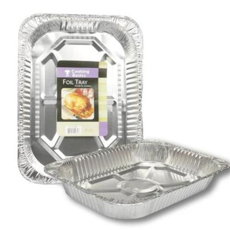 DDI 2328056 17 in. Rectangular Deep Foil Roaster Pan, Silver - Case of (Rectangular Roaster)