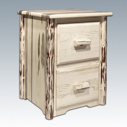 Montana Woodworks MWFC2 Montana Two Drawer File Cabinet