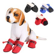 Dog Boots Waterproof Paw Protectors Dog Shoes with Adjustable Straps and Rugged Anti-Slip Sole