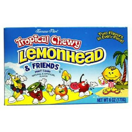 Chewy Lemonhead Tropical Assorted Fruit Flavored Candies 5 oz
