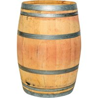 Real Wood Products Authentic Whole Oak Wine Barrel