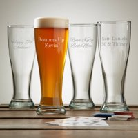 Personalized Create Your Own Pilsner Glass, Choose Block or Script