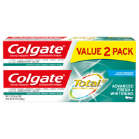 Colgate Total Whitening Toothpaste, Advanced Fresh + Whitening Gel, 5.1 oz. 2-pack