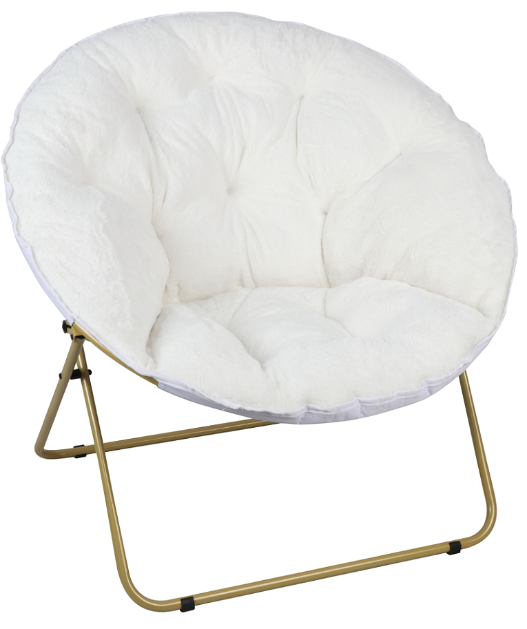 Awesome Mainstays Oversized Plush Saucer Chair White Walmart Com Forskolin Free Trial Chair Design Images Forskolin Free Trialorg