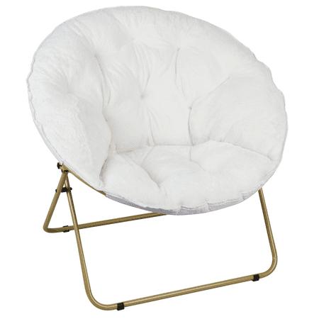 Mainstays Oversized Plush Saucer Chair, White