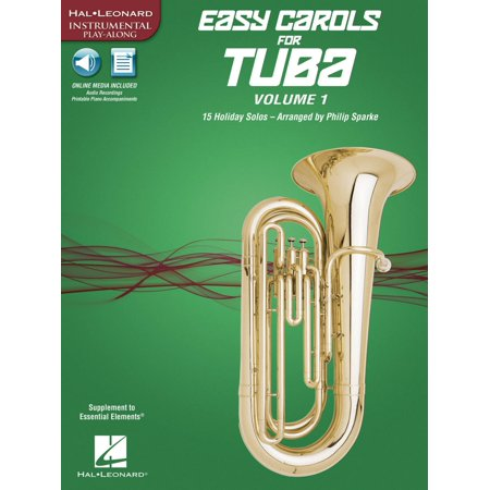 Hal Leonard Easy Carols for Tuba, Vol. 1 (15 Holiday Solos) Instrumental Folio Series Softcover Media -