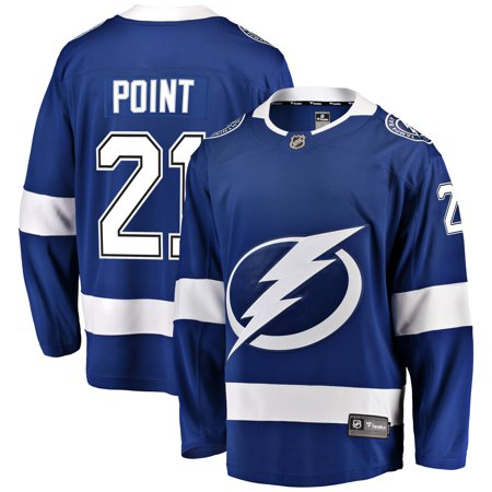 Brayden Point Tampa Bay Lightning Fanatics Branded Home Breakaway Player Jersey - Blue Ajax Away Jersey