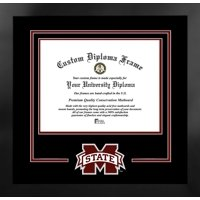 Mississippi State University Bulldogs 11w x 8.5h Spirit Diploma Nova Black Frame with Bonus Campus Images Lithograph (value savings $59)