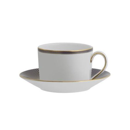 Waterford Lismore Diamond Lapis Teacup & Saucer