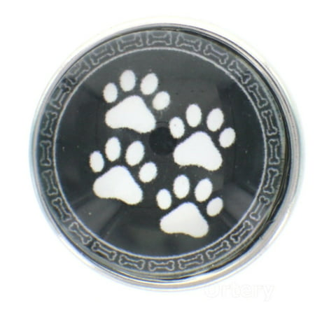 18mm Snap Charm Button Interchangeable Jewelry paw prints pawprints](Jewelry Snaps)