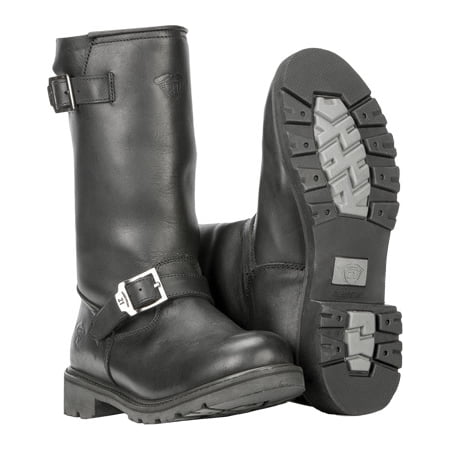 Highway 21 Primary Engineer Mens Leather Boots Black