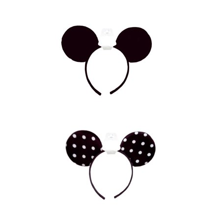 1 Pc Minnie Mouse Ears Headbands Black Or White Polka Dot Mickey Costume Party - Personalized Mickey Mouse Ears