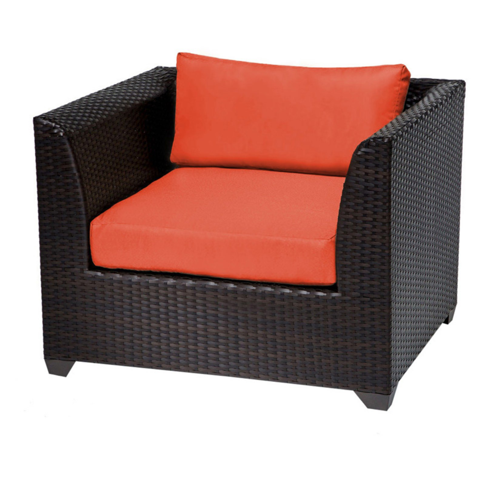 TK Classics Barbados Wicker Outdoor Club Chair - Set of 2 Cushion Covers