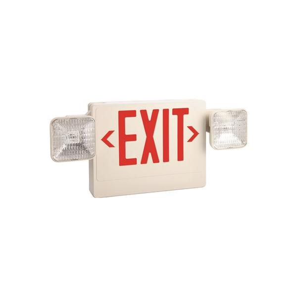 Click here to buy Monument Exit And Led Emergency Light Combination, Single Face With Red Exit Letters 2479008 by Monument.