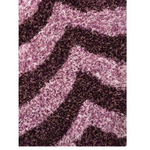 Isabelline Riddell Hand-Tufted 5' x 8' Lilac/Rasin Area Rug